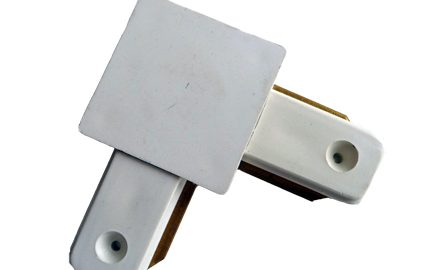 CONNECTOR FOR TRACK SYSTEM ANGLE WHITE